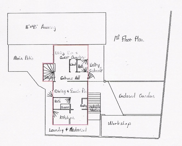 1 st floor plan