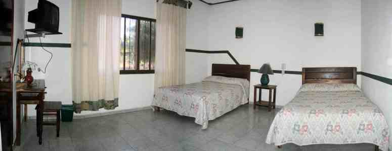 One of the rooms of Bungalows Tonala
