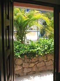 back door to the pool area