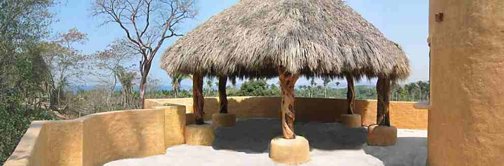 the rooftop palapa